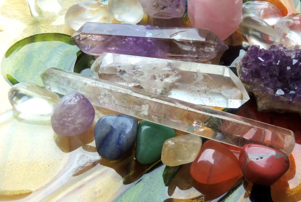 crystals and gems